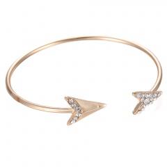 Gold Plated Arrow Diamond Open Bracelet Arrow