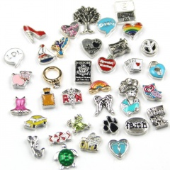 50pcs Locket Charms Accessories Mix Color and Style DIY Jewelry Accessories 50pcs