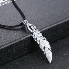 Fashion Silver Elephant Leaf Fish Pendant Necklace Chain Charm Jewelry Leaf