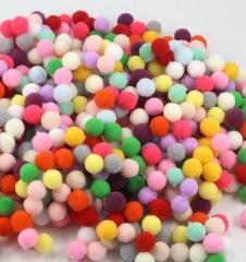 300Pcs/Package DIY Poms Soft Fluffy Balls Acrylic Felt Card Embellishments Kids Pompoms Mix Color