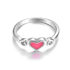 Fashion Silver Luminous Love Alloy Ring Jewelry Love