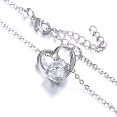 Crystal Hollow Simple Necklace Hollow Love