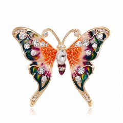 Rinhoo Beautiful pink Butterfly Small Insect Brooch Pins Animal Brooches for Women Decoration Jewelry Accessories For Women Girl butterfly1