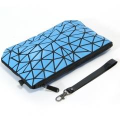 Geometric Ringer Bag Cosmetic Bag Portable Toiletry Bag Travel Storage Bag 24.5cm *16cm Dark blue