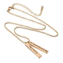 Fashion Geometric Pendant Letter Necklace Geometric