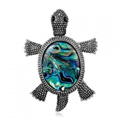 Rhinestone Crystal Turtle Brooch Animal Jewelry Animal