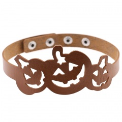 Exaggerated Personality Halloween Hollow Pumpkin Necklace brown