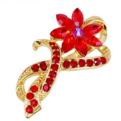 Wholesale Fashion Brooch Factory Price Red