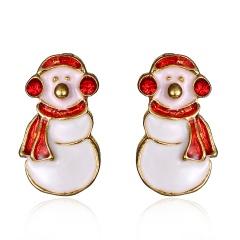 Wholesale  Christmas Jewelry Earrings Christmas Snowman
