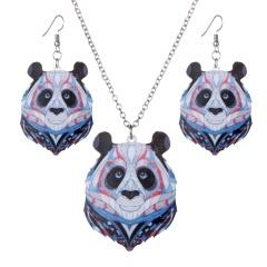 Fashion Animal panda lion Necklace Earrings panda
