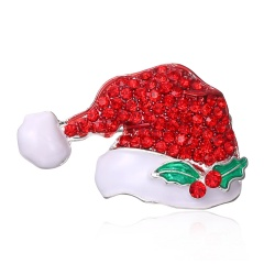 New Brooches With Cute Christmas Series Charms Santa Clause Fashion Men Women's Pins Brooches Jewelry For Cloth Decorations hat