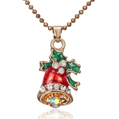 Fashion Christmas Bell Alloy Pendant Necklace Bells