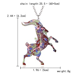 New Printing Flower Animal Cat Horse Dog Sun Moon Pendant Necklace Jewellery Sheep