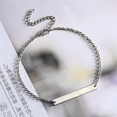 Stainless Steel Bracelet Chain Jewelry For Women Girls Silver