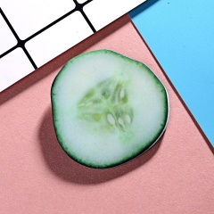 Cucumber Fruit Cut Noodle Brooch Alloy Acrylic Cucumber