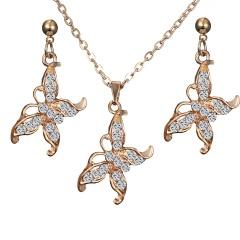 Butterfly Necklace Earrings Jewelry Set butterfly