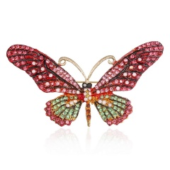 Colorful Cute Butterfly Brooch Mix Color Crystal Rhinestone Brooches for Women Lady Fashion Jewelry Boutonniere butterfly4