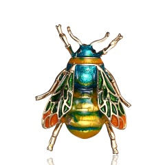 High-grade Vintage Fashion Pins Cute Bee Animals Enamel Insect Brooches For Women Party Gift New bee4