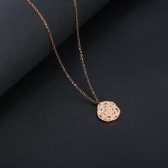 Women's Stainless Steel Hollow Women Men Heart Pendant Necklace Chain Jewelry Flower