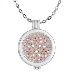 Fashion Geometric Pendant Necklace Round