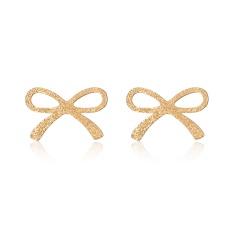 Stainless Steel Bow Stud Earrings Women Jewelry Bow