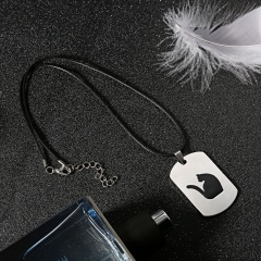 Fashion Stainless Steel Animal Dog Cat Butterfly Heart Dog Tag Pendant Necklace Cat