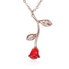 Wholesale Rose Necklace Bracelet Earrings Women Jewelry Rose necklace