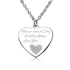 Fashion Love Smooth Stainless Steel Lettering Necklace Necklace Always Love You