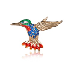 Dragonfly Swallow Shape Insects Brooch Pin Blue Red Green Metal Scarf Pins Women Kids Clothes Accessories Jewelry bird3