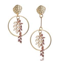 Fashion Leaves Tassel Earrings Stud Jewelry Leaves
