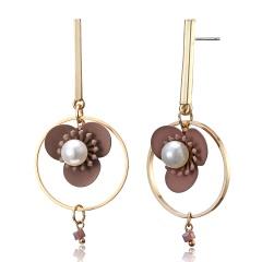 Fashion Flower Pearl Earrings Women Jewelry Flower 1