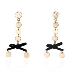 Flower Long Stud Earrings Handmade Women Gift Butterfly