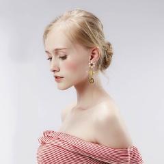Fashion Jewelry Bee Flower Tassel Earrings Gold