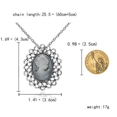 Fashion Women Cameo Crystal Star Butterfly Necklace Sweater Long Chain Jewelry Beauty