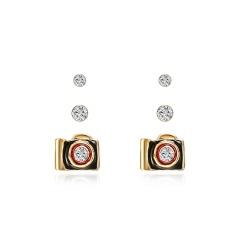 Fashion Rhinestone Big Star Stud Earrings 3Pairs/Set