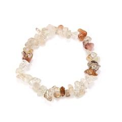 Natural Gemstone Simple Elastic Bracelet white