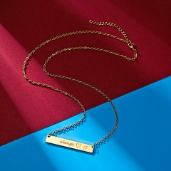 Fashion Engraved Letter Pendant Necklace Jewelry -J