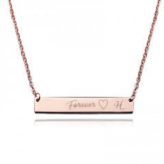 Lettering Necklace Forever Horizontal Clavicle Chain J