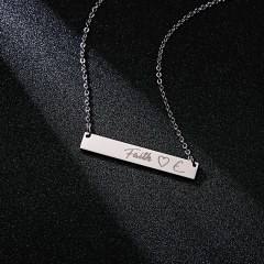 Lettering Necklace Faith Horizontal Letter Necklace Clavicle Chain J