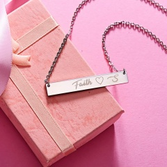 Lettering Necklace Faith Horizontal Letter Necklace Clavicle Chain H