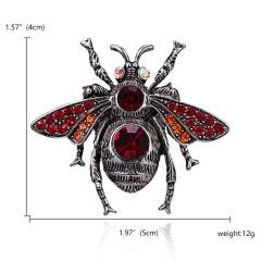 Classic Crystal Alloy Enamel Bee Butterfly Brooch Pins Metal Scarf Pins Banquet Weddings Bee