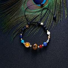 RINHOO Fashion Bracelet Natural Stones Balance Diffuser Beaded Warp Bead Bangle Adjustable Jewelry Bracelet For Women Men Colorful
