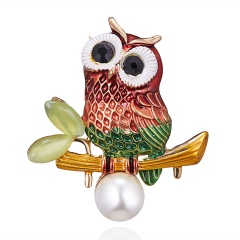 Christmas Enamel Peacock Bee Owl Spider Bird Brooches Plant Animal Brooch Pin Banquet Weddings Jewelry Owl 2