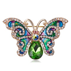 Rinhoo New Arrival Beautiful Rhinestone Fashion Enamel and Crystal Butterfly Brooches for Women Charm Colorful Dress Jewlery butterfly2