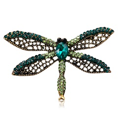 Alloy Purple Enamel Bragonfly Brooches Men And Women's Metal Rhinestone Insects Banquet Wedding Brooch Gifts animal2