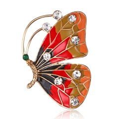 RINHOO Baby Classic Enamel Swallow Brooch Pins Scarf Pins Gift Banquet Weddings Accessories butterfly1