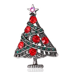 Christmas Snowflake Brooch Bouquet Colorful Crystal Star Snowflakes Pins And Brooches For Women Ladies Girl fashion Jewelry tree1