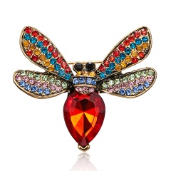 Rinhoo Beautiful pink Butterfly Small Insect Brooch Pins Animal Brooches for Women Decoration Jewelry Accessories For Women Girl bee2