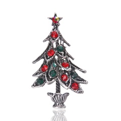 Crystal Christmas Tree Brooch pins Wedding Collar Clip Scarf Buckle Accessory Fashion Jewelry Brooches Best Gift For Women tree3