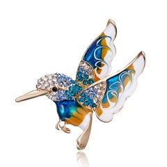 Beautiful Rinestone colorful bird Brooch animal Brooches for wedding women decoration wild Animal Fashion Gold jewelry bird2